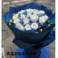 生日鲜花,蓝色恋人