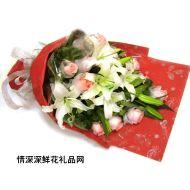 祝福鲜花,爱上你我很快乐