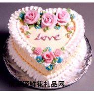 艺术蛋糕,爱