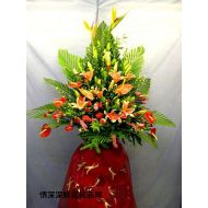 商务鲜花,港式艺术花蓝(4)