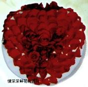 奶油蛋糕,玫瑰恋情