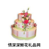 喜庆蛋糕,花开连枝