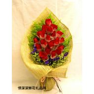 元旦鲜花,红艳佳人