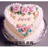 艺术蛋糕,LOVE(10寸)