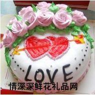 情人蛋糕,两颗心