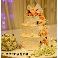 婚�Y蛋糕,金玉良�