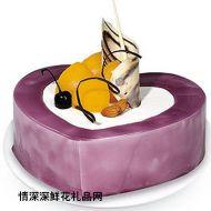 情人蛋糕,紫海洋之心(12寸)