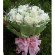 每周特价,19只极品白玫瑰 白色浪漫