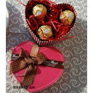 �M列巧克力,圣�Q�Y物 �M列�_粉色心形精美�Y盒�b