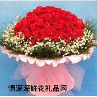广州鲜花,深深祝福(99枝)