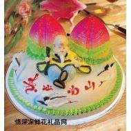 生日蛋糕,双桃贺寿