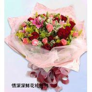 玫瑰花,美��情思
