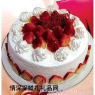 生日蛋糕,淡玫如雪
