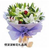 父亲节鲜花,微笑的祝福