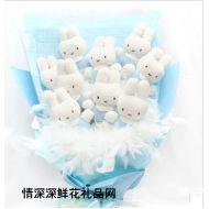 台湾鲜花,小兔花束